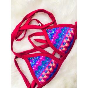 PINK VS Tribal Print Bikini Padded Top✨MEDIUM